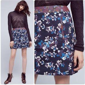 Anthropologie Maeve Cardana Floral Skirt